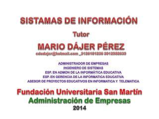 SISTAMAS DE INFORMACI�N