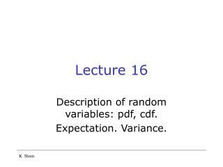 Lecture 16