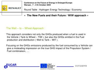 Conference on the Future of Energy in Enlarged Europe Warsaw , 7 – 8 th October 2004