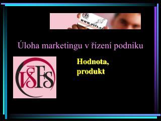 �loha marketingu v ?�zen� podniku