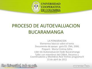PROCESO DE AUTOEVALUACION BUCARAMANGA