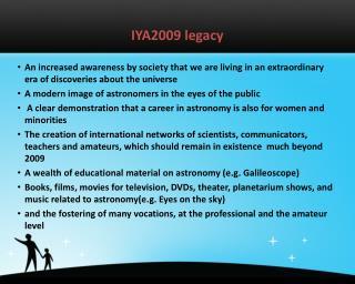 IYA2009 legacy