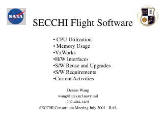 SECCHI Flight Software