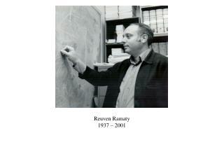 Reuven Ramaty 1937 – 2001