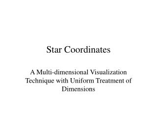Star Coordinates
