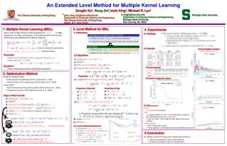 An Extended Level Method for Multiple Kernel Learning
