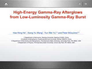 High-Energy Gamma-Ray Afterglows from Low-Luminosity Gamma-Ray Burst