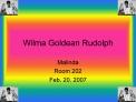 Wilma Goldean Rudolph