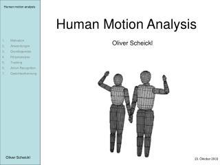 Human Motion Analysis