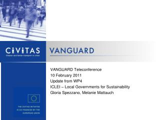 VANGUARD Teleconference 10 February 2011 Update from WP4