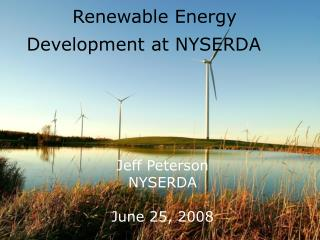 Renewable Energy  Development at NYSERDA