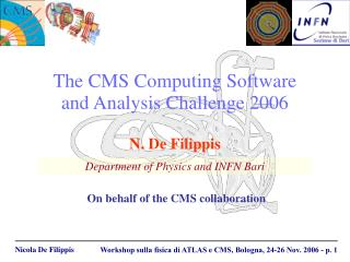 The CMS Computing Software  and Analysis Challenge 2006