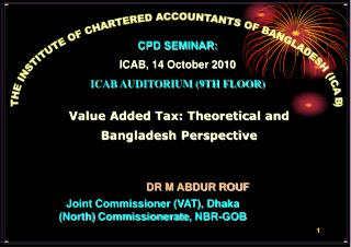 THE INSTITUTE OF CHARTERED ACCOUNTANTS OF BANGLADESH (ICAB)