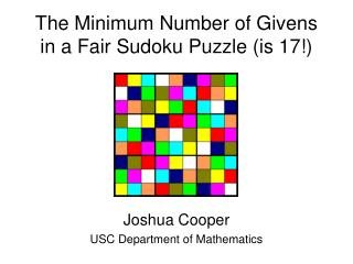 The Minimum Number of Givens in a Fair Sudoku Puzzle (is 17!)