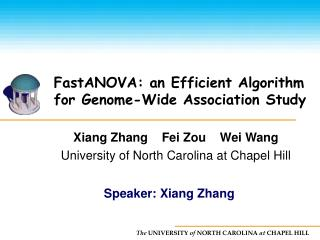 FastANOVA: an Efficient Algorithm for Genome-Wide Association Study