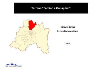 """Terreno  """" Camino a Quilapilún """""""