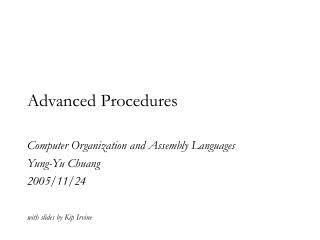 Advanced Procedures