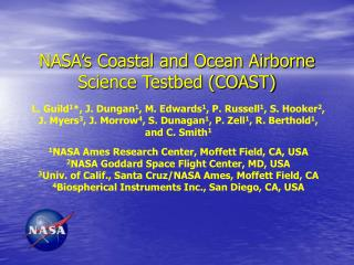 NASA's Coastal and Ocean Airborne Science Testbed (COAST)