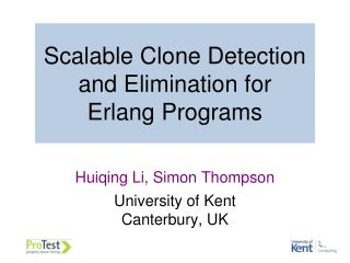 Scalable Clone Detection and Elimination for  Erlang Programs