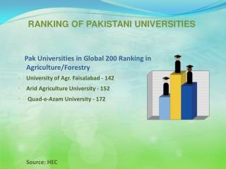 RANKING OF PAKISTANI UNIVERSITIES