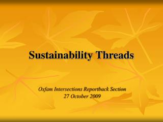 Sustainability Threads