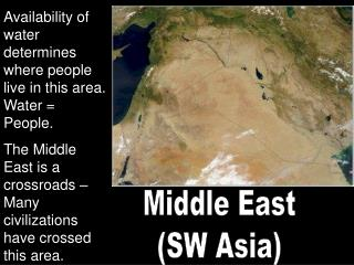 Middle East (SW Asia)