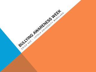 bullying awareness week