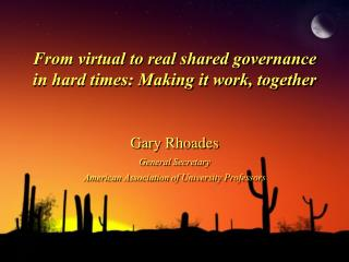 From virtual to real shared governance in hard times: Making it work, together