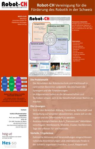 Robot-CH  Vereinigung für die Förderung des Robotik in der Schweiz