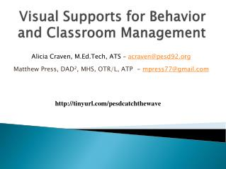 Visual Supports for Behavior and Classroom Management