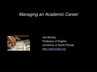Managing an Academic Career