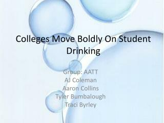 Colleges Move Boldly On Student Drinking