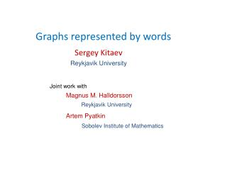 Graphs represented by words