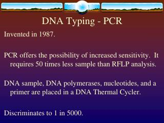 DNA Typing - PCR