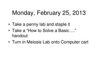 Monday, February 25, 2013
