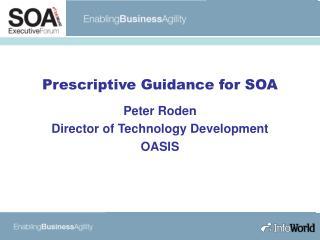 Prescriptive Guidance for SOA