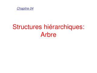 Structures hiérarchiques: Arbre