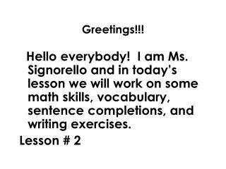 Greetings!!!
