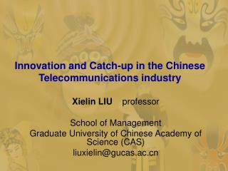 Innovation and Catch-up in the Chinese Telecommunications industry