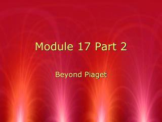 Module 17 Part 2