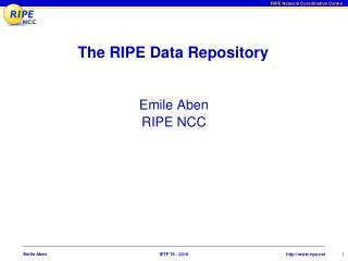 The RIPE Data Repository