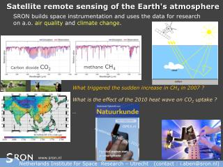 Satellite remote sensing of the Earth's atmosphere