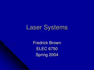 Laser Systems