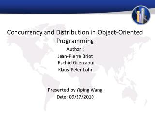 Concurrency and Distribution in Object-Oriented Programming