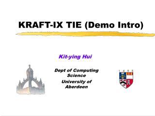 KRAFT-IX TIE (Demo Intro)