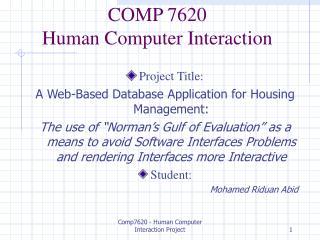 COMP 7620  Human Computer Interaction