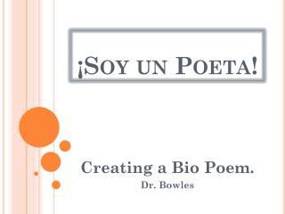 ¡Soy un  Poeta !