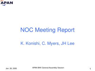 NOC Meeting Report