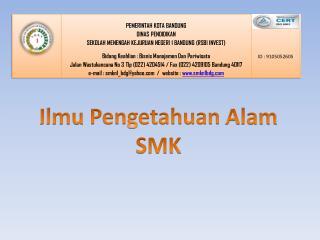Ilmu Pengetahuan Alam SMK
