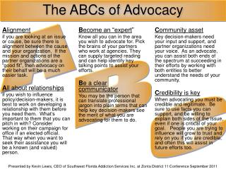 The ABCs of Advocacy
